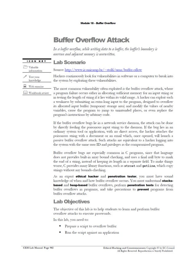 ceh v8 labs module18 buffer overflow ceh lab manual pdf ceh v8 course + lab manual download