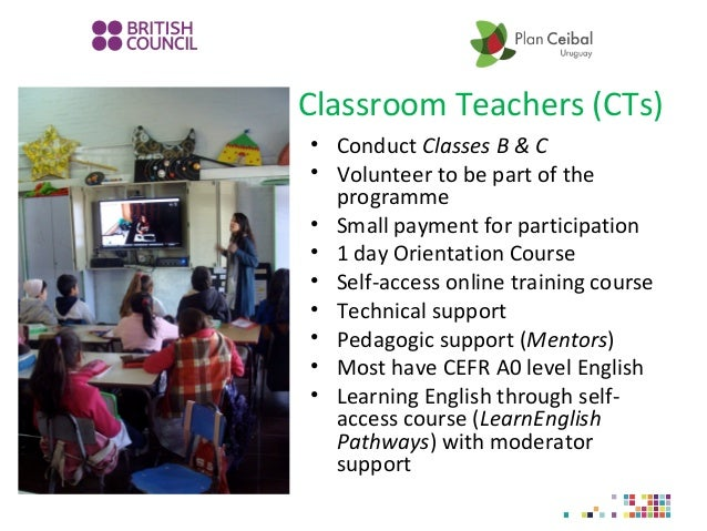 Classroom Teachers (CTs) • Conduct Classes B & C • Volunteer to be part of the programme • Small payment for participation...