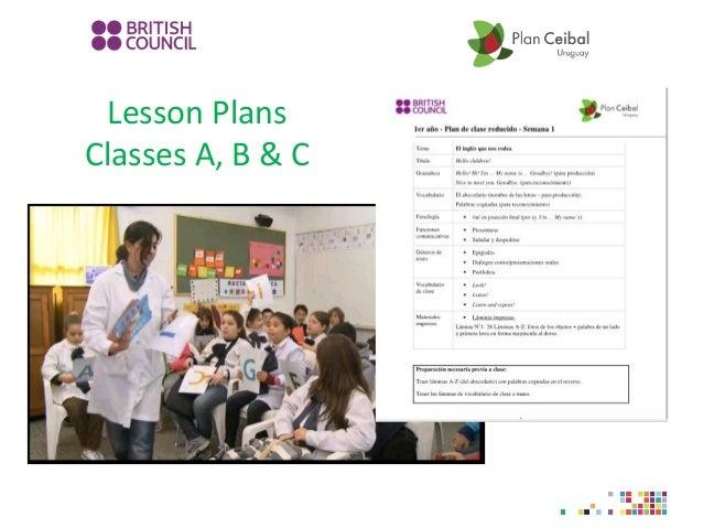 Lesson Plans Classes A, B & C