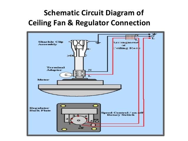 5. Schematic Circuit Diagram Of Ceiling Fan U0026 Regulator Connection ...