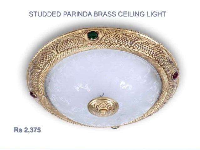 Ceiling lights shopping online india foslighting studded parinda brass ceiling light rs 2375 mozeypictures Images