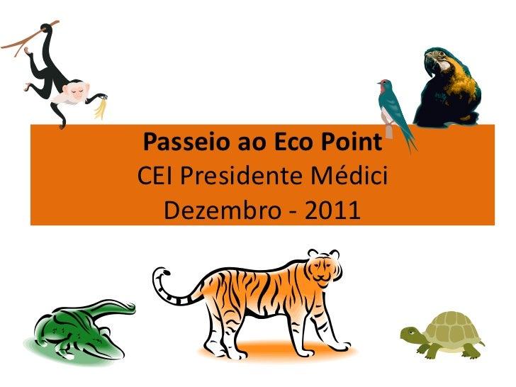 Passeio ao Eco PointCEI Presidente Médici  Dezembro - 2011