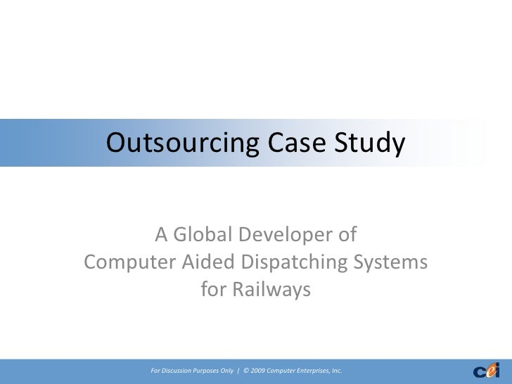 business process outsourcing a case study of satyam computers That process of verification of applications before grant of bulk uas  the outsourcing firm satyam computers has become  a case study of enron and satyam,.