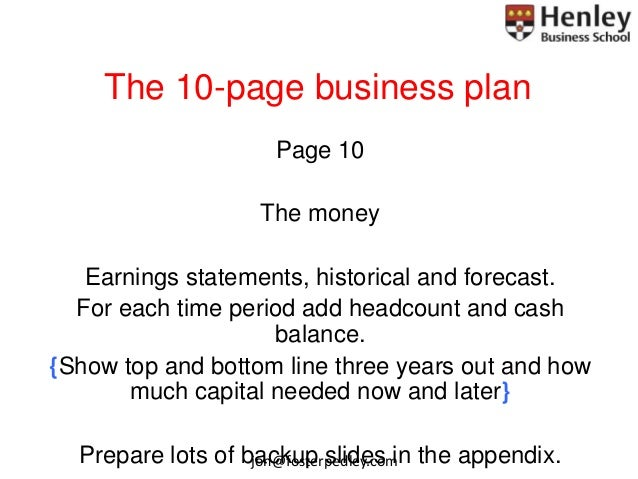 10 page business plan