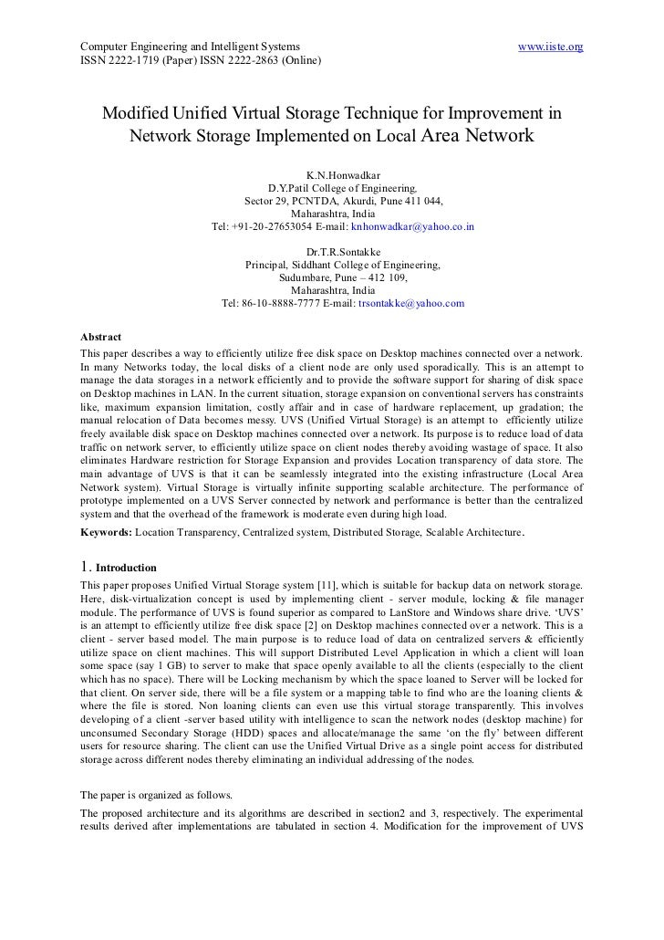 Computer Engineering and Intelligent Systems                                                       www.iiste.orgISSN 2222-...