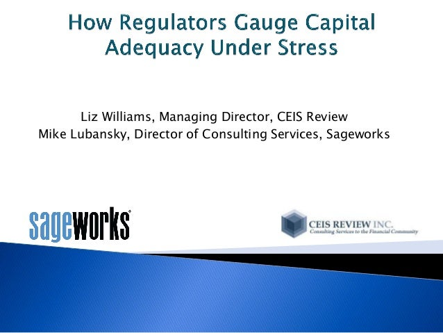 Liz Williams, Managing Director, CEIS Review Mike Lubansky, Director of Consulting Services, Sageworks