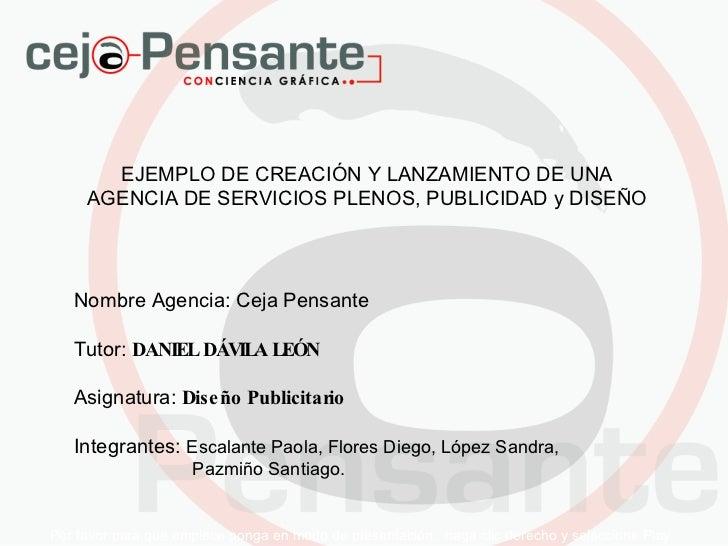 Por favor para que empiece ponga en modo de presentación,  haga clic derecho y seleccione Play EJEMPLO DE CREACIÓN Y LANZA...