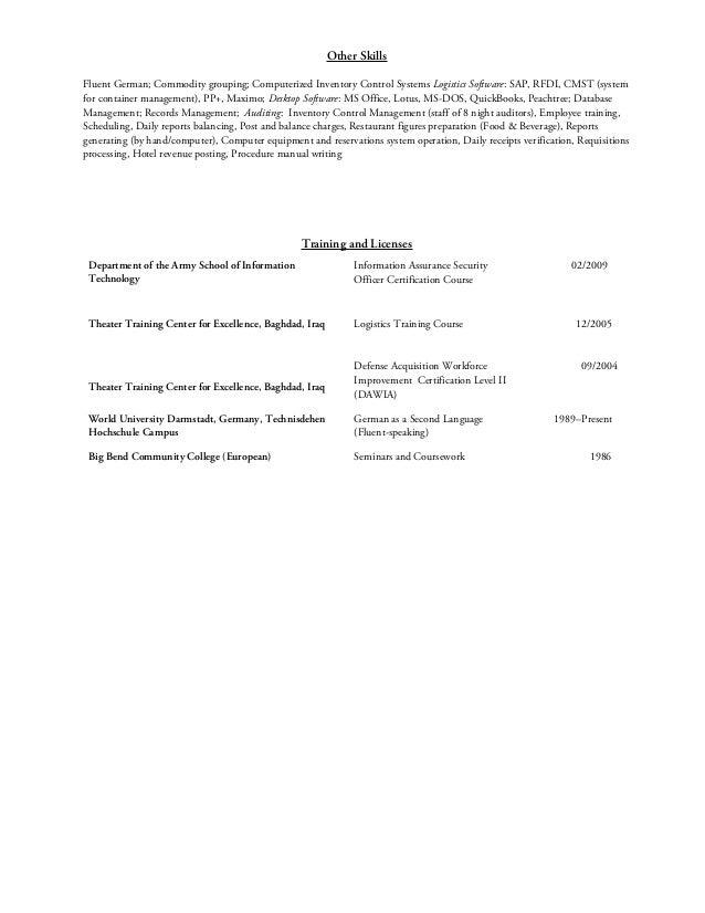 c e jackson  procurement materials logistics resume