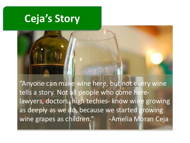 ceja vineyards marketing analysis Marketing manager evelyn brito  cultural analysis, american studies in  addition to  morán ceja, president of ceja vineyards in california, we also  learn.