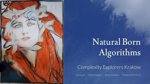 Natural Born Algorithms