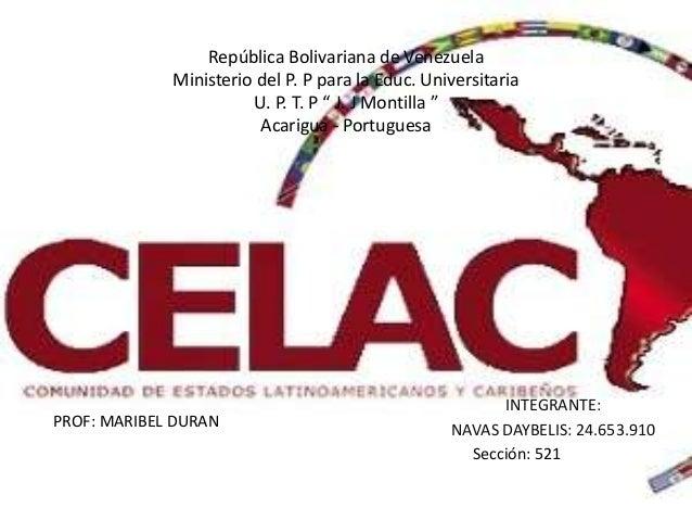 "República Bolivariana de VenezuelaMinisterio del P. P para la Educ. UniversitariaU. P. T. P "" J. J Montilla ""Acarigua - Po..."
