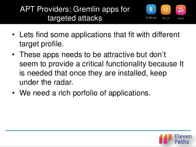 """""""Perfet"""" Target Apps • How to select the perfect set of applications for an APT once the reconnaissance of the victim has ..."""