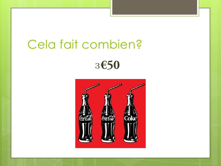 Cela fait combien (with food) ? Slide 2