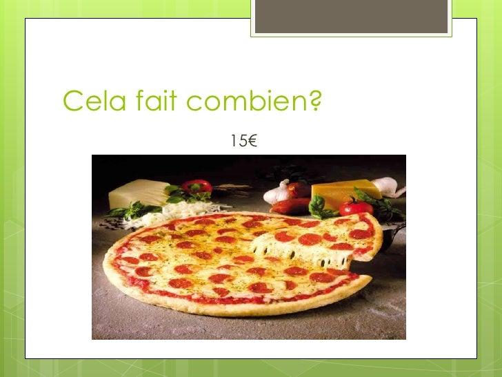 Cela fait combien (with food) ? Slide 3