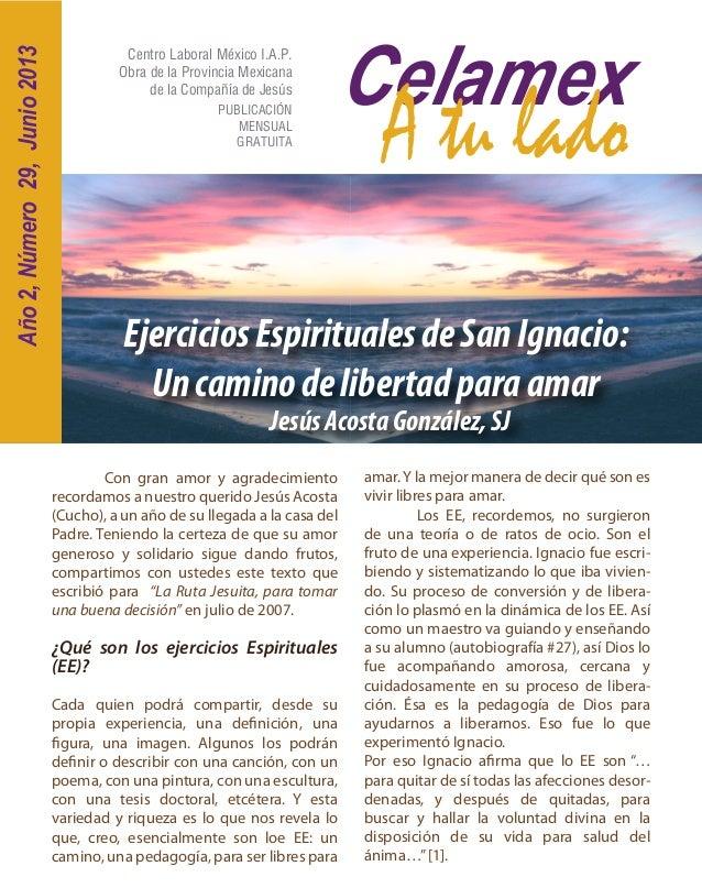 CelamexA tu ladoCentro Laboral México I.A.P.Obra de la Provincia Mexicanade la Compañía de JesúsPUBLICACIÓNMENSUALGRATUITA...