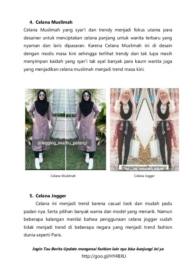 Celana Hijab Model Terbaru Celana Hijab Celana Muslim Celana Katun Ce