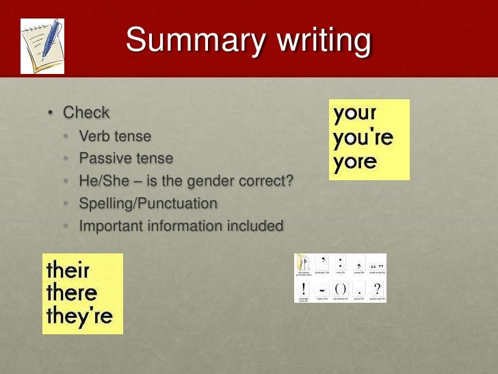 REPORT WRITING<br />Check<br />Verb tense<br />Passive tense<br />He/She – is the gender correct?<br />Spelling/Punctuatio...
