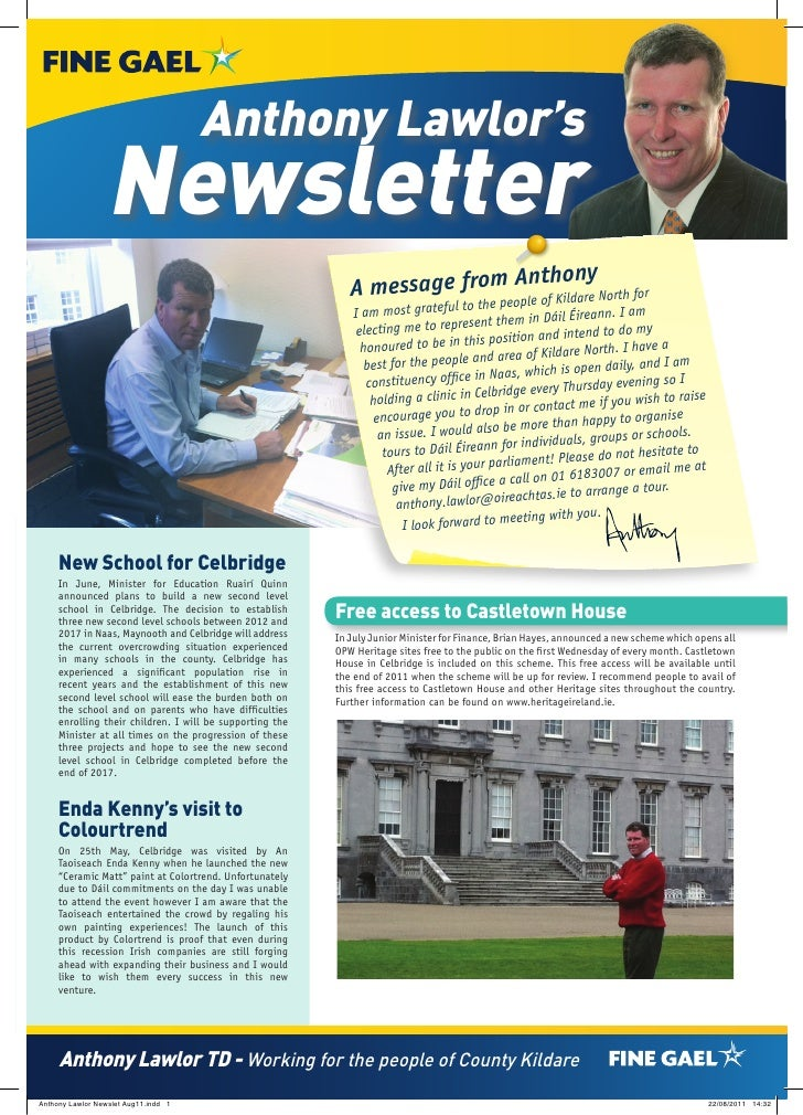 Anthony Lawlor's                  Newsletter                                                                          m An...