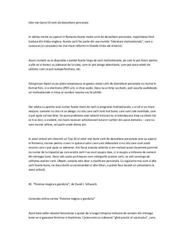 carti dezvoltare personala pdf download