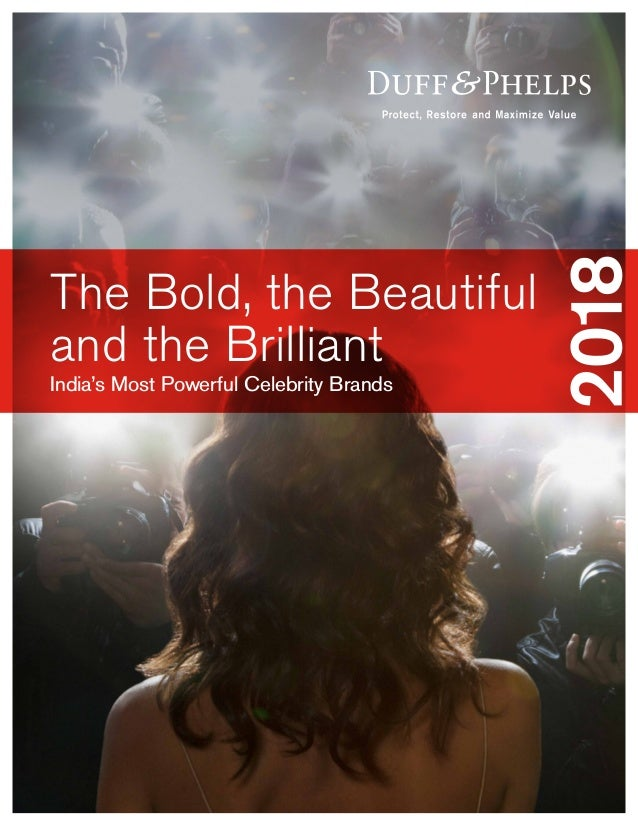 India's Most Powerful Celebrity Brands The Bold, the Beautiful and the Brilliant