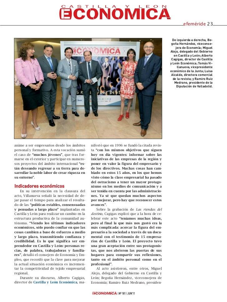 Celebración XV Aniversario de Castilla y León Económica Slide 2