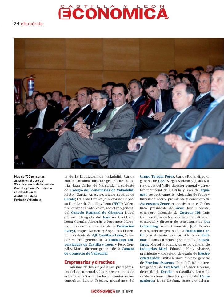 Celebración XV Aniversario de Castilla y León Económica Slide 3