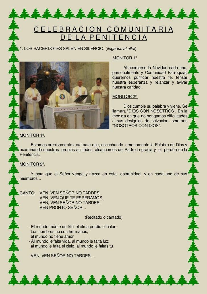 CELEBRACION COMUNITARIA           DE LA PENITENCIA1. LOS SACERDOTES SALEN EN SILENCIO. (llegados al altar)                ...