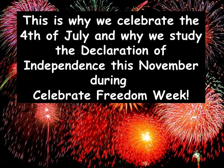 Celebrate freedom week grade 3 5 for Why is 4th of july celebrated