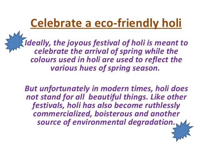 Essay or dissertation upon Holi