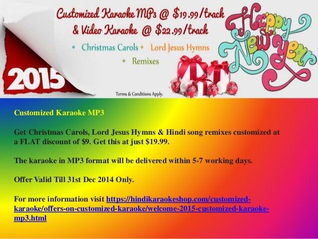Celebrate Christmas & New Year with Hindi Karaoke Shop