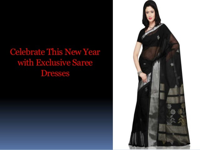Celebrate This New Year with Exclusive Saree Dresses