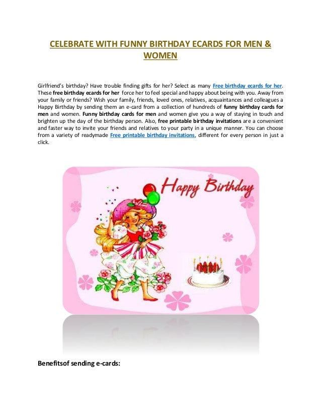 CELEBRATE WITH FUNNY BIRTHDAY ECARDS FOR MEN WOMEN Girlfriends Birthday Have Trouble Finding Gifts