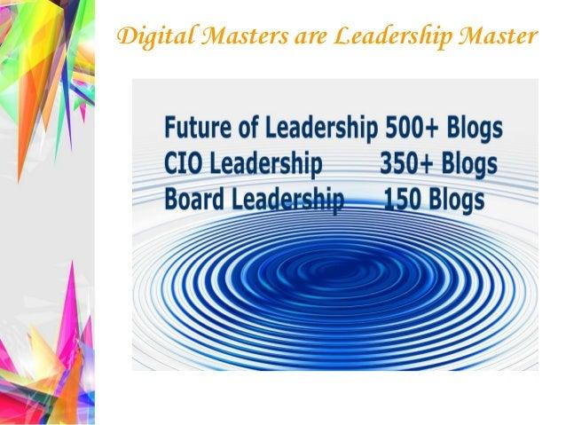 Digital Masters are Leadership Master
