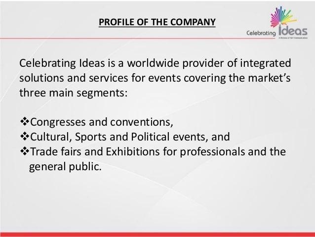 Celebrating Ideas Events Slide 2