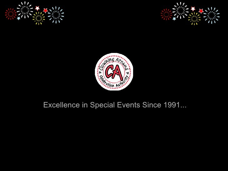 Excellence in Special Events Since 1991...