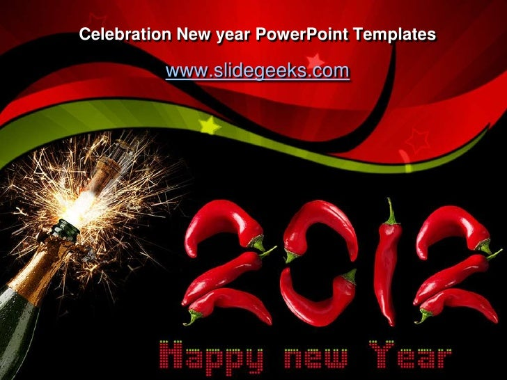 celebration new year powerpoint templates