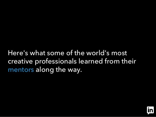 LinkedIn on Mentorship #thankyourmentor Slide 3