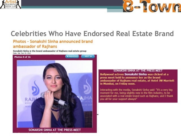 B-Town Entertainment - Celebrities and Brand Endorsement