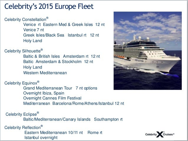 Celebrity reflection sailings