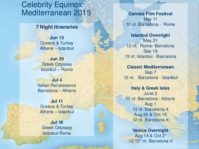 12-Night European Cruise aboard Celebrity Solstice ...