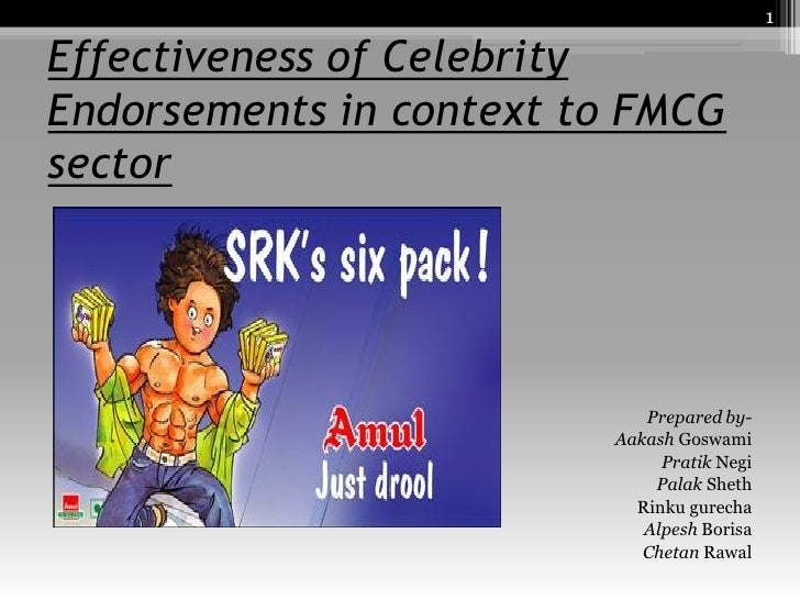 effectiveness of celebrity endorsement 04042016  do celebrity endorsements still matter for  it makes sense that celebrity endorsement has  but it's important to remember that the effectiveness of.