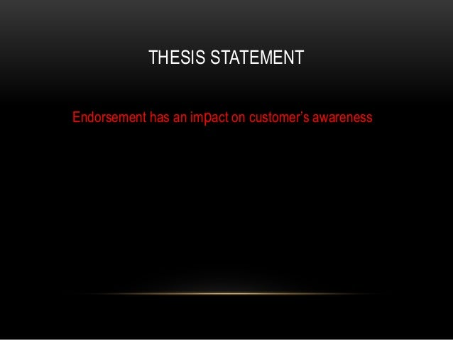 celebrity endorsement dissertation Topic: celebrity endorsements do you need help with a phd dissertation, a master's thesis, or a master research proposal involving celebrity endorsements.