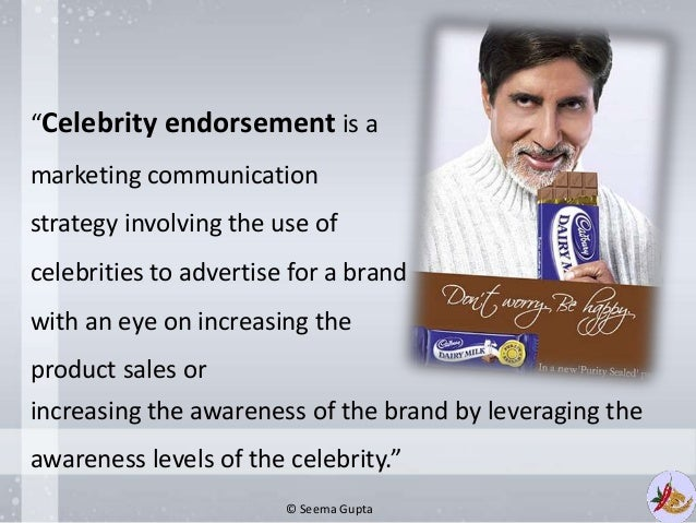 disadvantages of celebrity endorsement Celebrities promotion advantages & disadvantages for celebrity endorsements can be a big advantage there are a number of disadvantages to relying on.