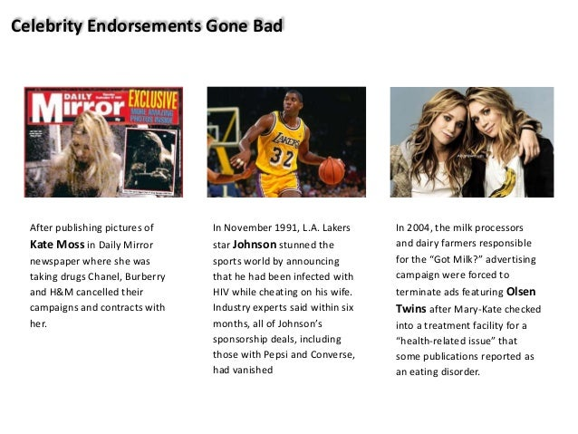 Celebrity Endorsements: The Good, The Bad And The Ugly ...