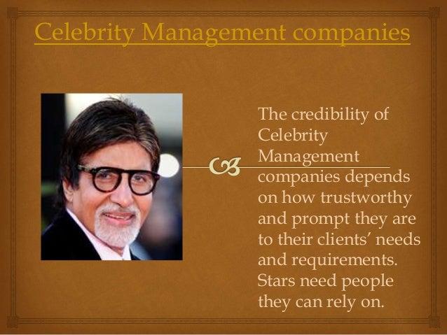 Celebrity management Slide 2