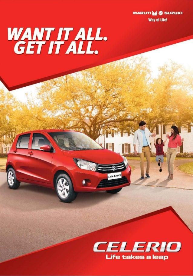Maruti Suzuki Celerio Brochure Pdf Download