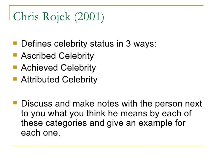 Celebrity - Chris Rojek - Google Books