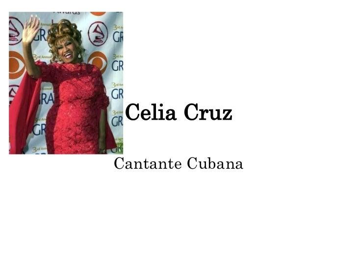 Celia Cruz Cantante Cubana