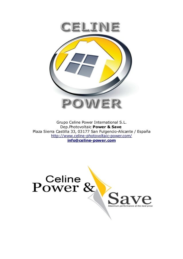 Celine Power And Save Information Pv Plug To The Socket By