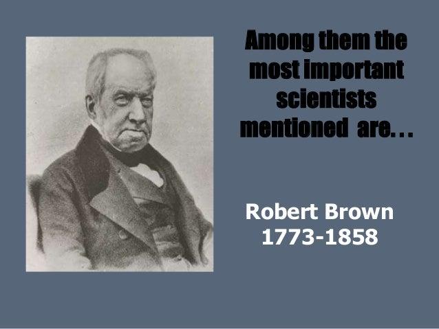 scientist robert brown biography